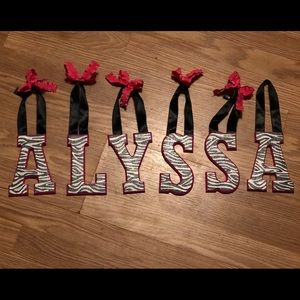 Wooden name Alyssa